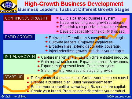Venture Management - High-Growth Business development Roadmap