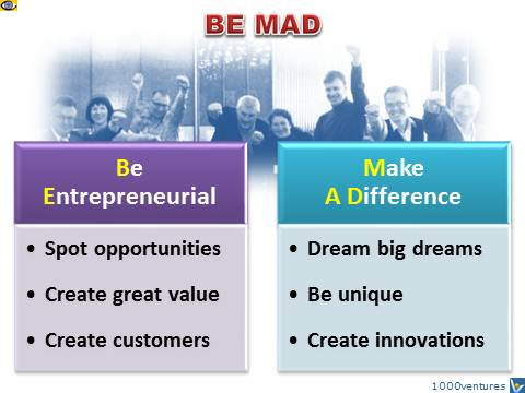 BE MAD - Be Entrepreneurial, Mare A Difference, Russian Entrepreneurs