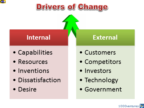 internal and external resources of organizational changes Organizational structure: influencing factors and impact on a firm commonly divided into internal and external factors define the legal boundaries and organizational options internal factors are those organizational characteristics.