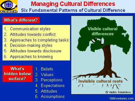 Cross-cultural Differences / Cultural Differences - Six Fundamental Patterns of Cultural Differences