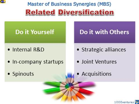 Related Diversification, Synergistic Innovation, Master of Business Synergies, MBS