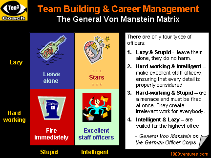 Career Management: The General von Manstein Matrix