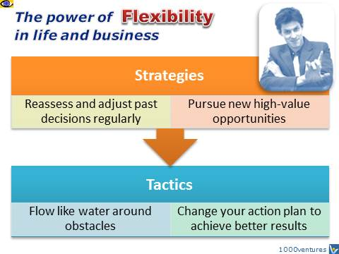 Flexibility - strategic and tactic flexibility benefits for life and business, Dennis Kotelnikov