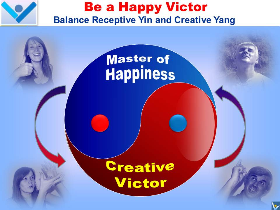 HAPPY VICTOR: Master of Happiness and Creative Victor - emfographics by Vadim Kotelnikov with Ksenia Kotelnikova