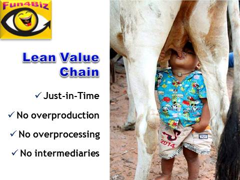 Lean Value Chain - joke, funny picture, boy sucks milk