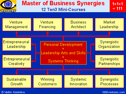 SYNERGY: Master of Business Synergies (MBS) - 12 Ten3 Mini-courses