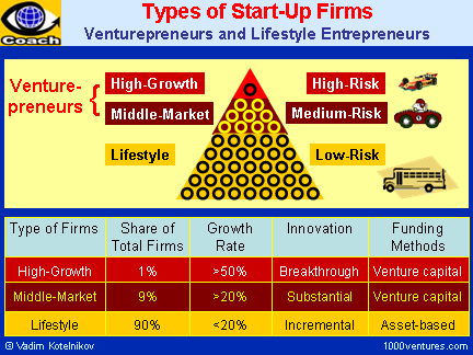 Start-Up Firms: 3 Types - Lifestyle, Middle-Market, High-Growth Companies