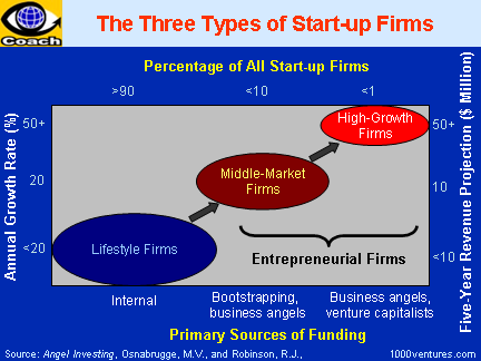 Small Business, Small Companies; Three Types of Start-Up Firms (from Angel Investing)