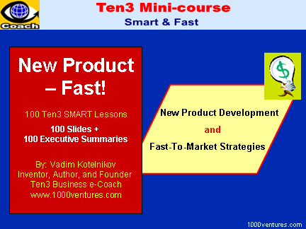 NEW PRODUCT DEVELOPMENT - FAST (Ten3 Mini-course and Business Training)