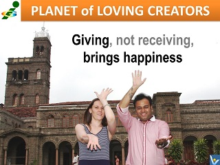 Happiness is giving Vadim Kotelnikov quotes Innompic Planet of Loving Creators