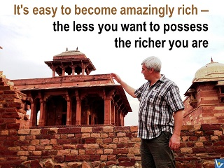 Vadim Kotelnikov how to become amazingly rich - the less you want to possess the richer you are, photogram, India