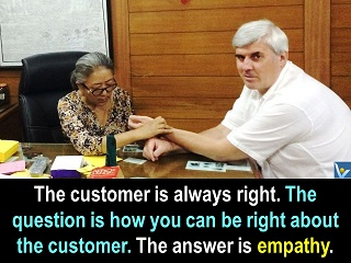 Customer is right quotes Vadim Kotelnikov empathy