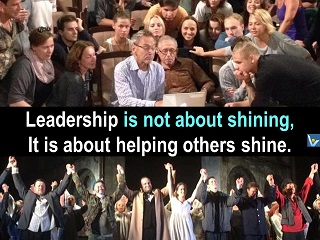 Superleader quotes Leadership is not about shining, it is about helpijng others shine Vadim Kotelnikov
