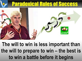 Paradixical rules of success You win or lose a battel before it begins prepare to win Vadim Kotelnikov