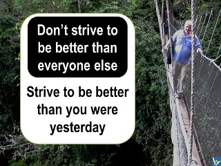 Best personal growth advice Strive to be better than you were yesterday Vadim KOtelnikov quotes