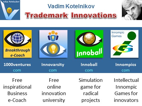 Vadim Kotelnikov breakthrough innovations e-Coach, Innoball, Innompic Games